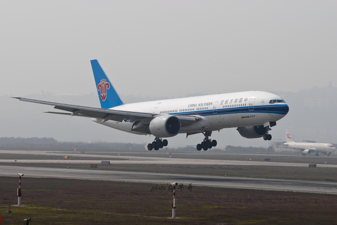 【CKG打机队】升级777,来发组777落地~~ BOEING 777-200 B-2053 中国重庆江北机场