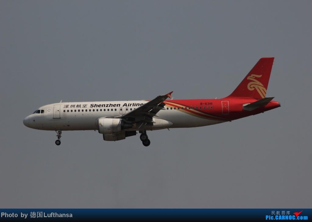 Re:[原创]今日广州白云机场随拍飞机 AIRBUS A320-200 B-6316 中国广州白云机场