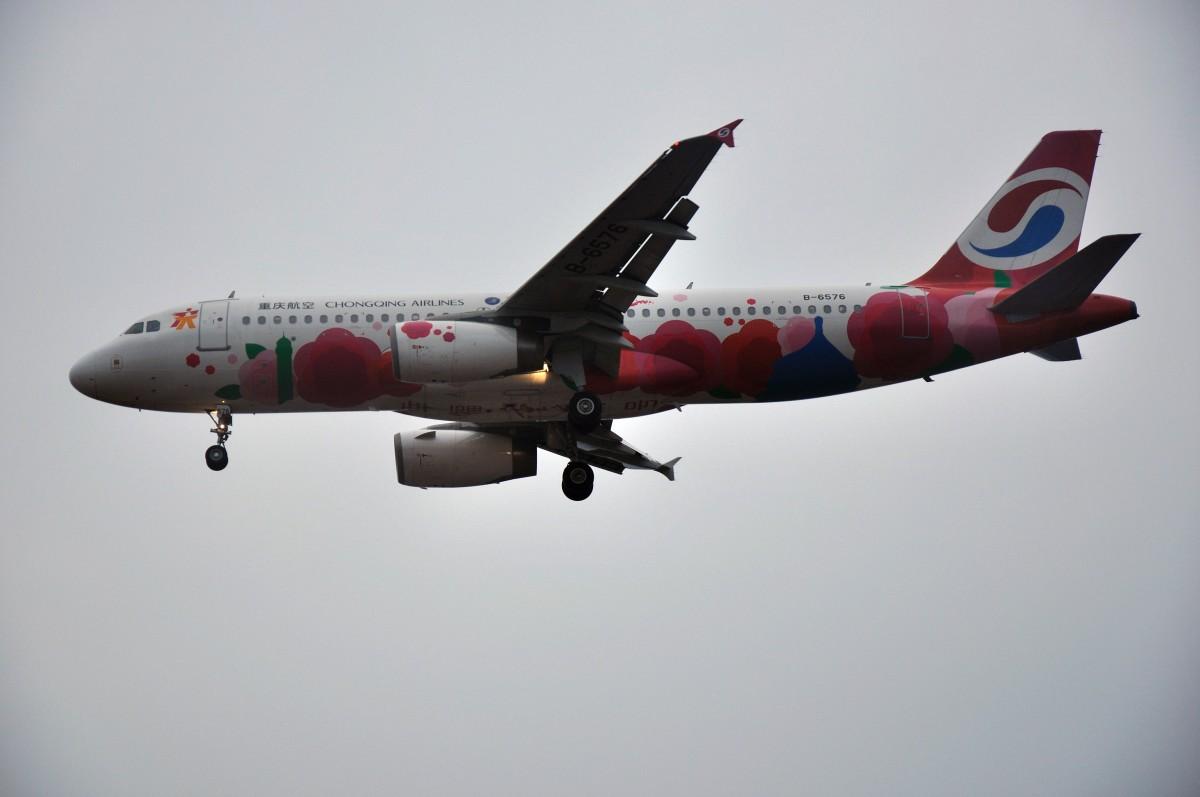 "Re:[原创]【CKG】偶吧灰机style!!!好吧。烂天图,除了一个红宝石和钻石同机出现,其他的我只能""小公鸡,点到谁,我就发谁""了。。。 AIRBUS A320-200 B-6576 CKG"