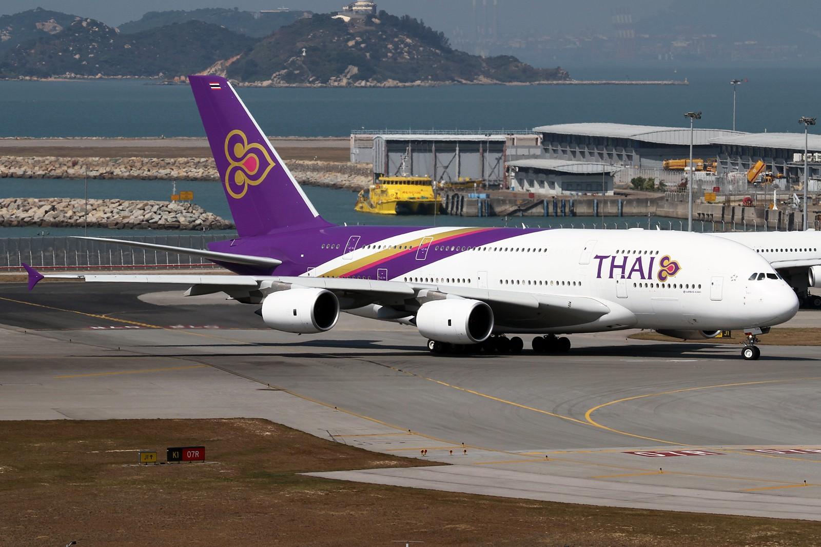 Re:[原创]【HKG】**********HKG第二次流窜归来,比较有代表性的3pics********** AIRBUS A380-841 HS-TUC 中国香港赤鱲角国际机场