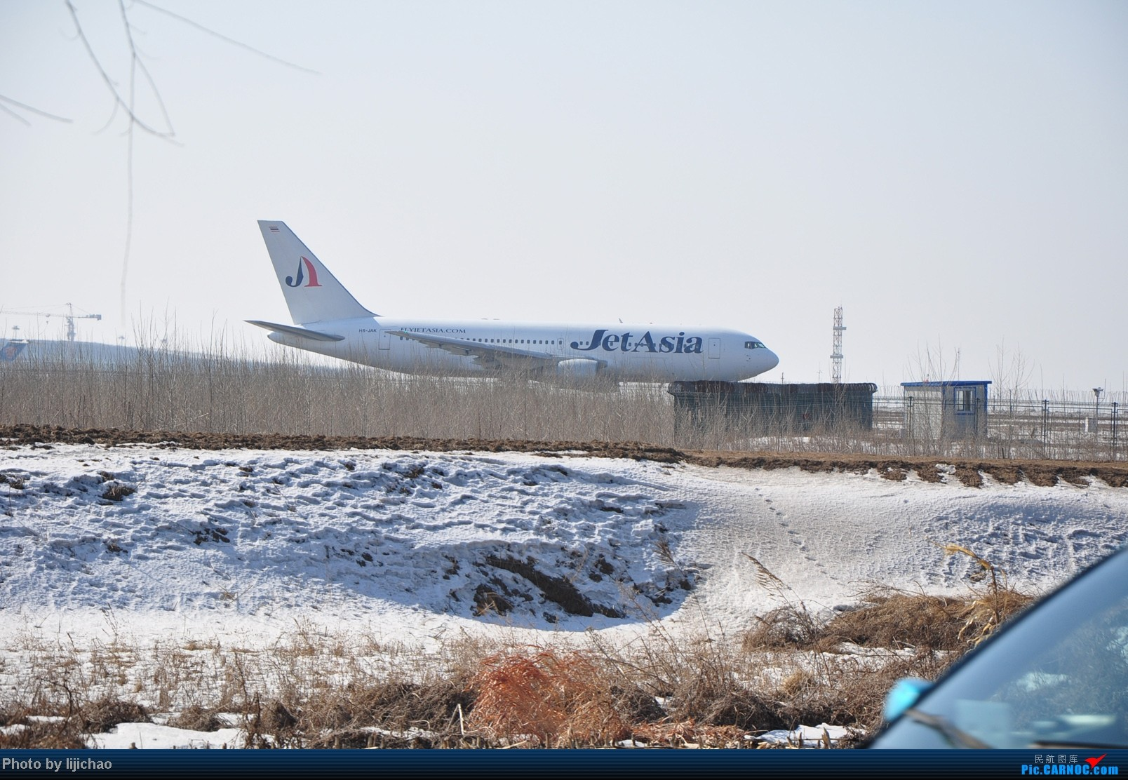 Re:[原创]沈阳桃仙机场跑道尽头随拍 BOEING 767-200 HS-JAK