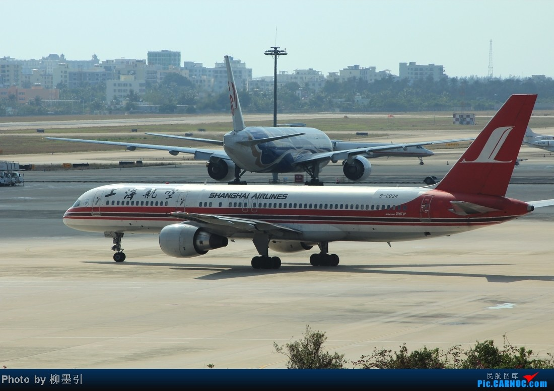 Re:[原创]【海南飞友会】 战斗在SYX,最后一系列,各个航空在三亚的冬季狂欢~~ BOEING 757-200 B-2834 中国三亚凤凰机场