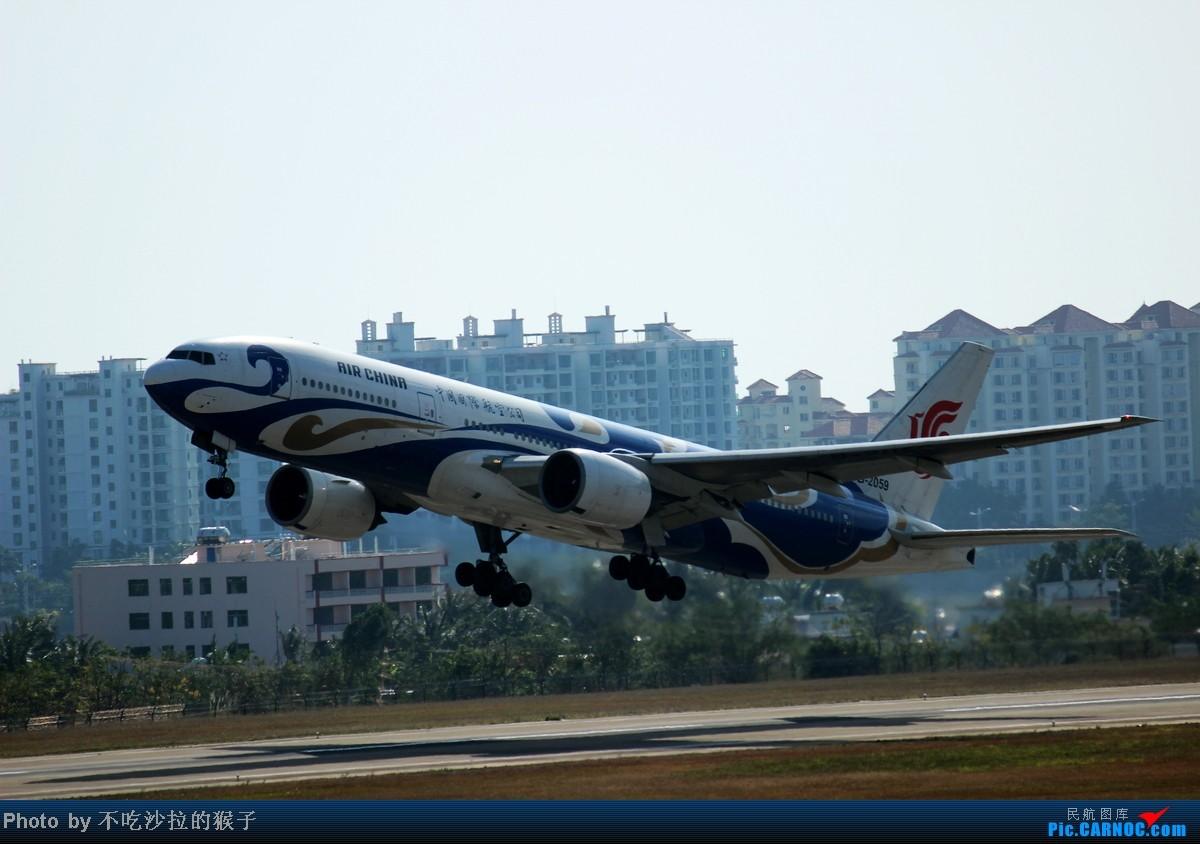 Re:[原创]【海南飞友会】【猴子出品】小岛寒假拍机汇总~在祖国的最南边用生命拍机~SYX篇~ BOEING 777-200 B-2059 中国三亚凤凰机场