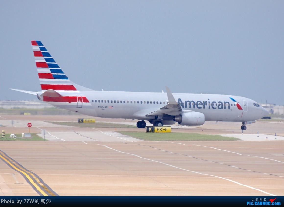 boeing 737-823 n982an 美国达拉斯沃尔斯堡机场 [dfw
