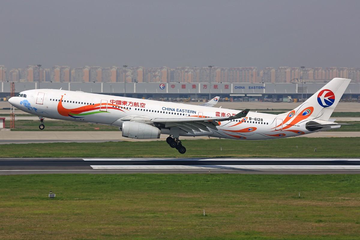 [原创]【SHA】*****悠闲的周末一网打尽:土鸡、包公关公、微笑中国、电视航空等***** AIRBUS A330-300 B-6128 中国上海虹桥机场