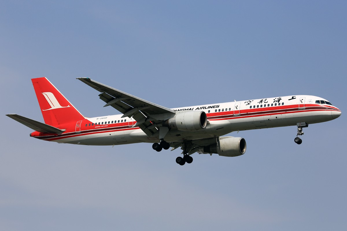 Re:[原创]【SHA】*****悠闲的周末一网打尽:土鸡、包公关公、微笑中国、电视航空等***** BOEING 757-200 B-2850 中国上海虹桥机场