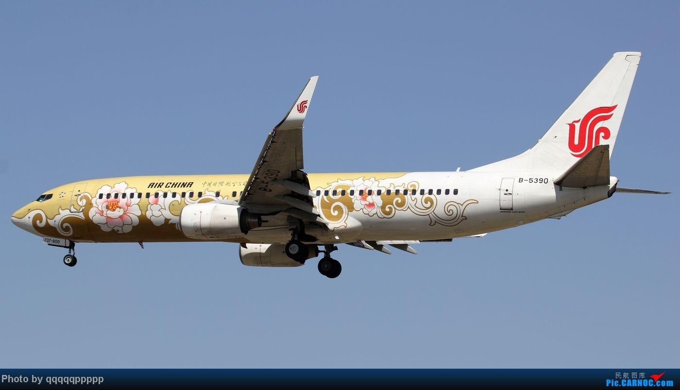 Re:[原创]五一小假期~北京迎来春暖花开的好天气。岂能错过这个拍机的好机会~ BOEING 737-800 B-5390 中国北京首都机场