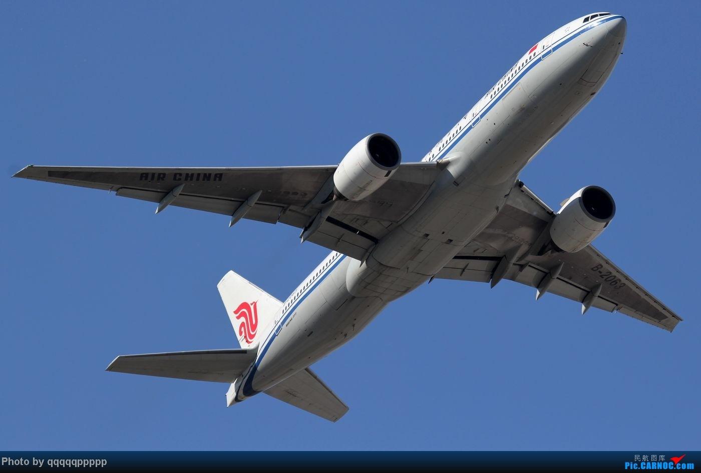 Re:[原创]五一小假期~北京迎来春暖花开的好天气。岂能错过这个拍机的好机会~ BOEING 777-200 B-2063 中国北京首都机场