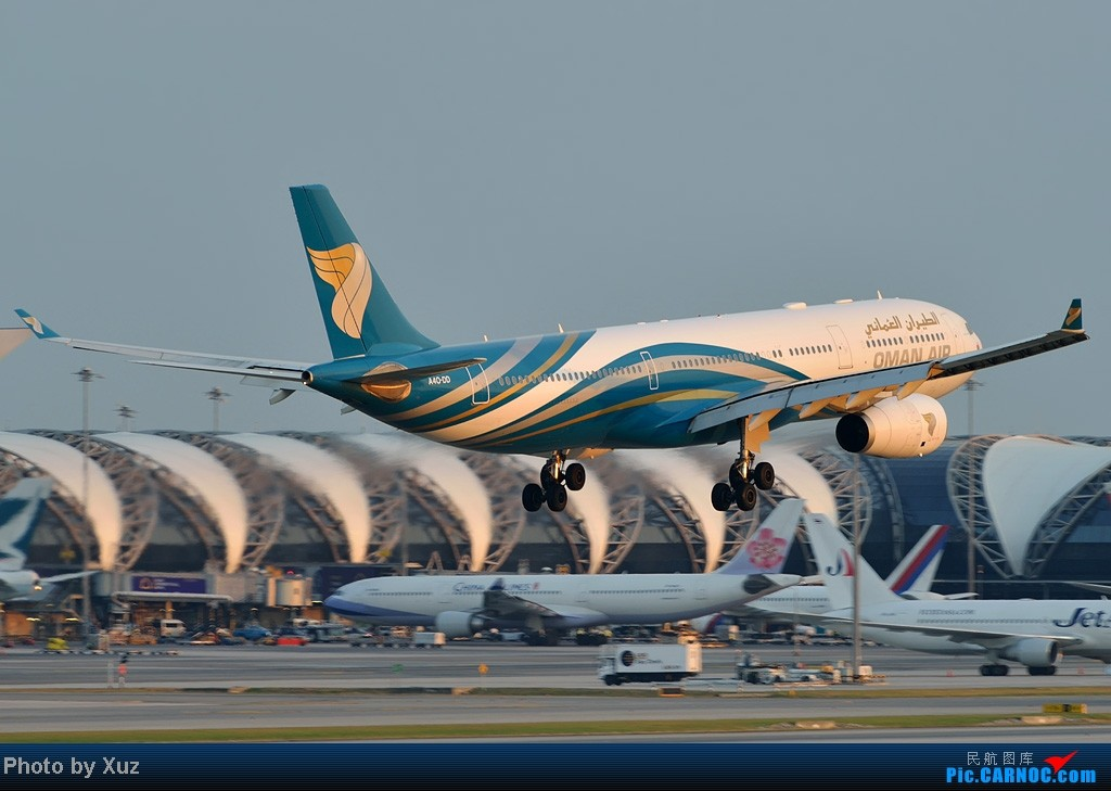 Re:[原创]漂亮的飞机MM在华丽的曼谷机场翩翩起舞 AIRBUS A330-200 A40-DD 泰国曼谷(素万那普)机场