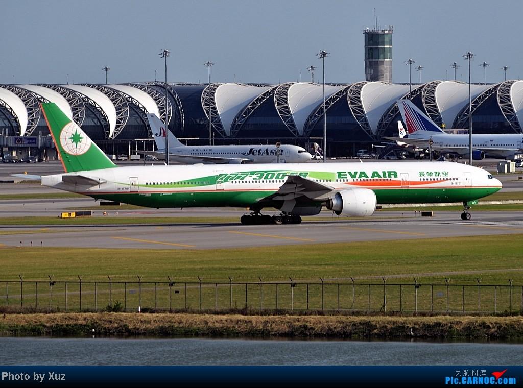 Re:[原创]漂亮的飞机MM在华丽的曼谷机场翩翩起舞 BOEING 777-300  泰国曼谷(素万那普)机场