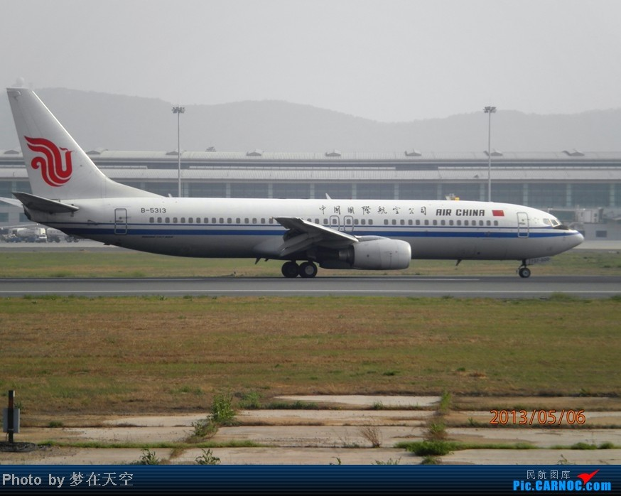Re:[原创]天气极差的 D L C BOEING 737-800 B-5313 中国大连国际机场