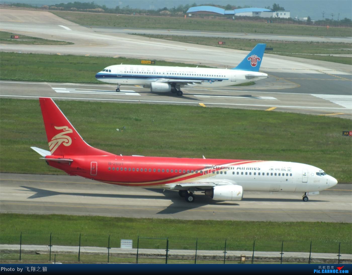 Re:[原创]烈日当空,坚持拍机(南航777F,332,大运号,花博号等) BOEING 737-800 B-2691 重庆江北国际机场