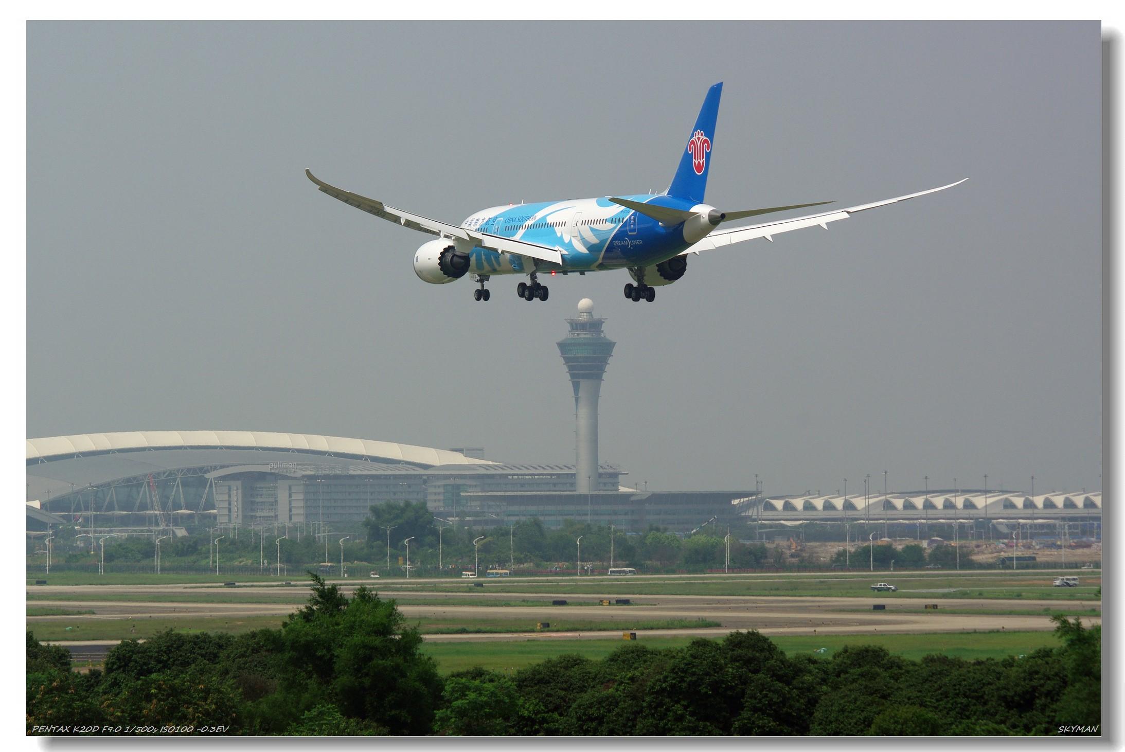 [原创]【与梦想一起飞】 787 BOEING 787 B-2725 中国广州白云机场