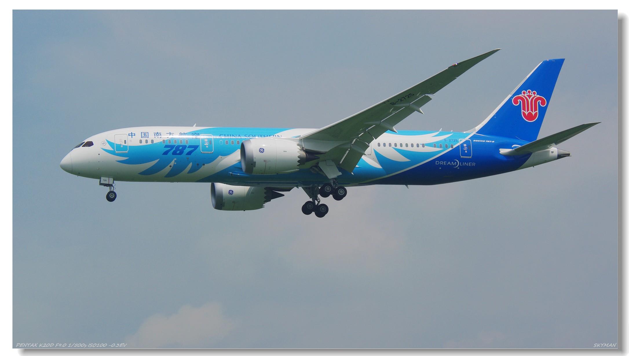Re:[原创]【与梦想一起飞】 787 BOEING 787 B-2725 中国广州白云机场