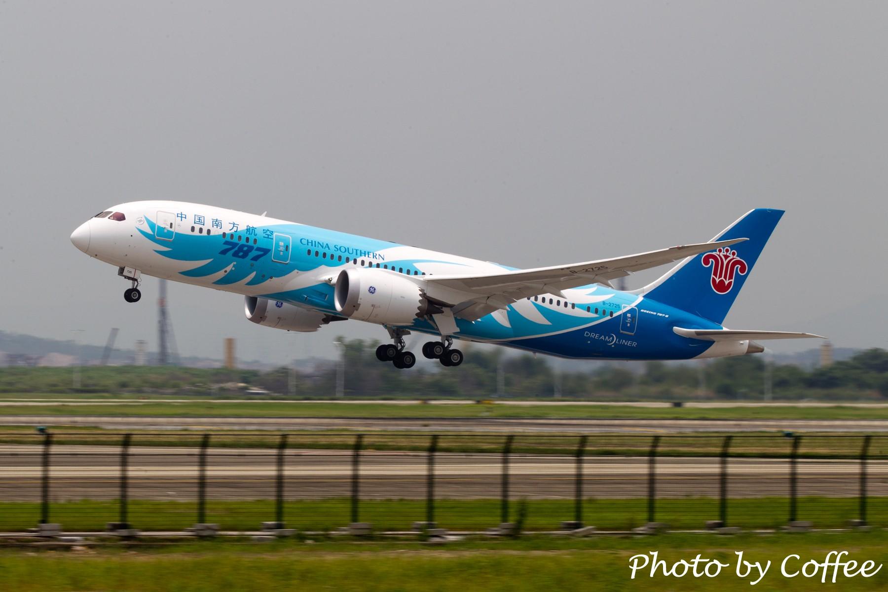 [原创]【与梦想一起飞】南方883,欢迎回家! BOEING 787 B-2725 中国广州白云机场