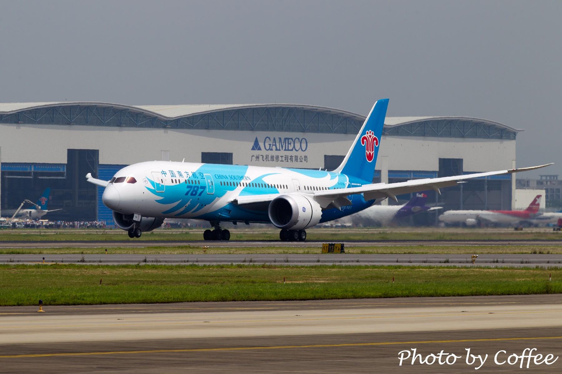 Re:[原创]【与梦想一起飞】南方883,欢迎回家! BOEING 787 B-2725 中国广州白云机场