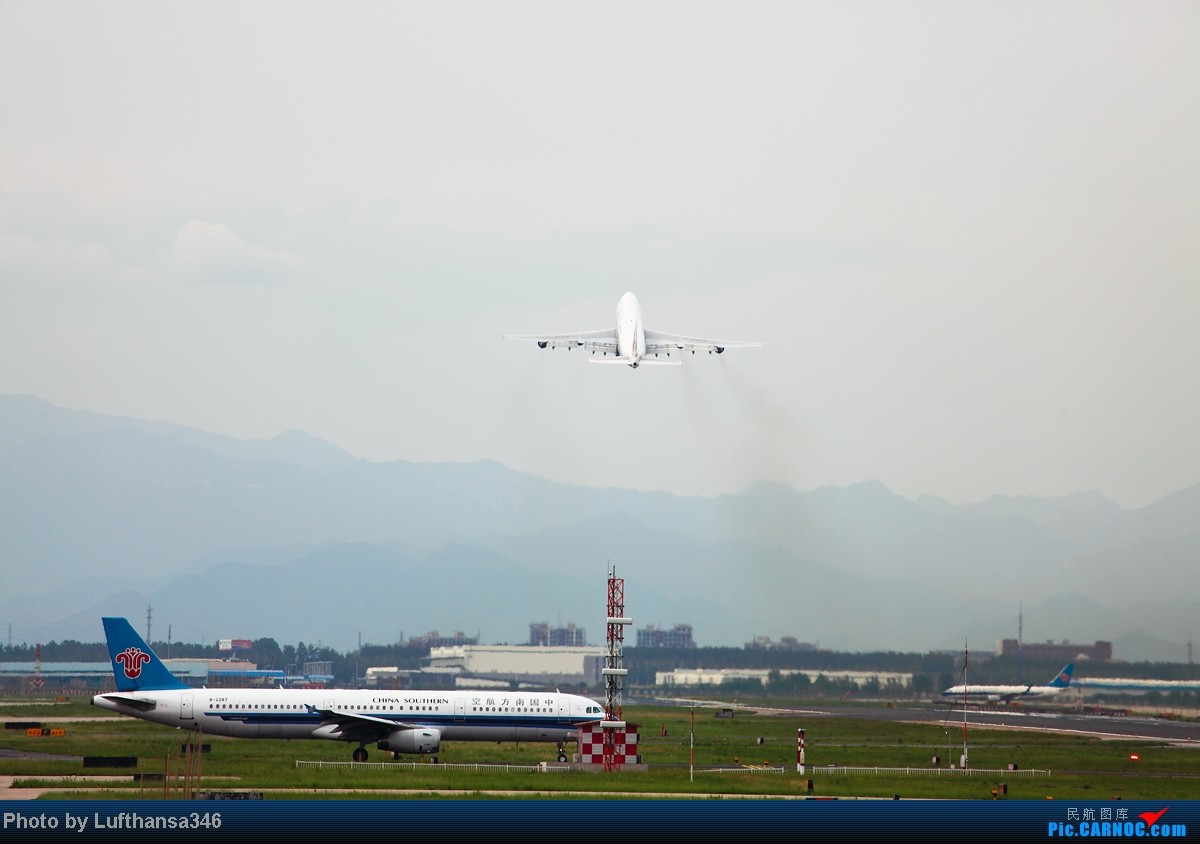 Re:[原创]屌丝的端午就以打飞机度过,有幸看到了JL787,CZ380复飞,以及闪灯若干 BOEING 747-400 B-2458 中国北京首都机场