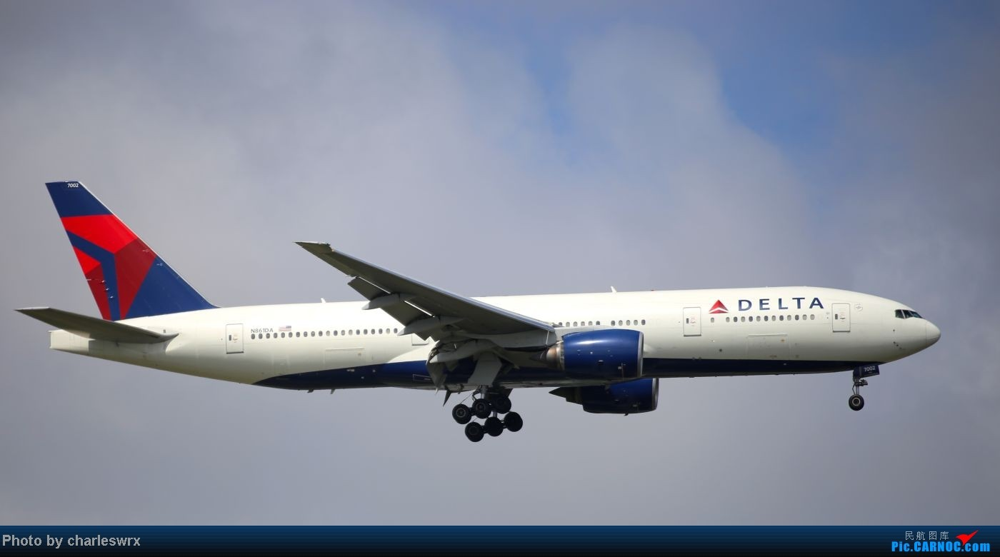 Re:[原创]【【上海浦东国际机场17R】】烂天转好天,多图一次性看个够(国产,欧美,日本,东南亚。。。) BOEING 777-200 N861DA 中国上海浦东机场