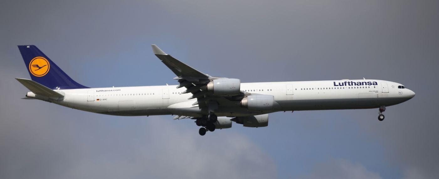 Re:[原创]【【上海浦东国际机场17R】】烂天转好天,多图一次性看个够(国产,欧美,日本,东南亚。。。) AIRBUS A340-600 D-AIHC AIRBUS A340-600