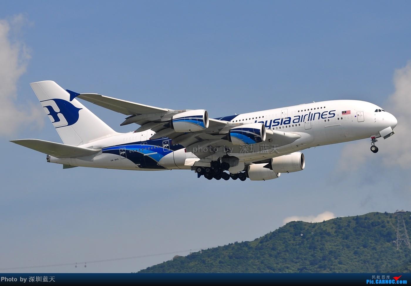 Re:[原创]【深圳飞友会】香港飞机维修区海堤起飞新拍—泰航A380斐济A330新装等 AIRBUS A380-841 9M-MNB 中国香港赤鱲角国际机场