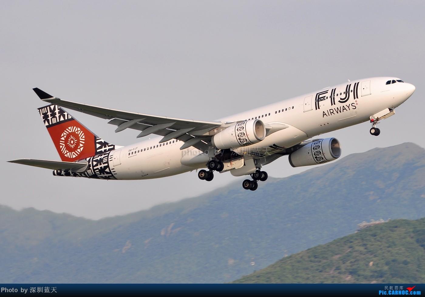Re:[原创]【深圳飞友会】香港飞机维修区海堤起飞新拍—泰航A380斐济A330新装等 AIRBUS A330-243 DQ-FJT 中国香港赤鱲角国际机场