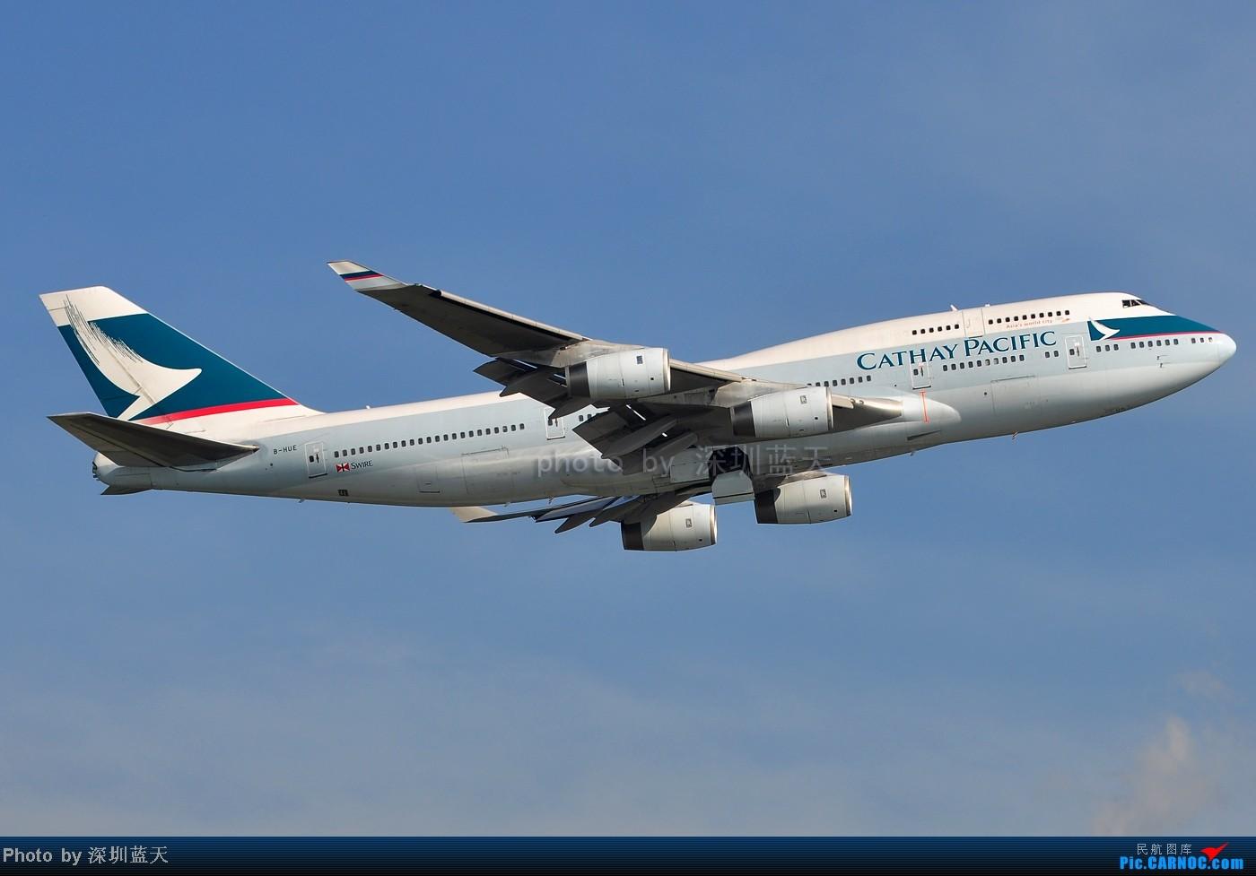 Re:[原创]【深圳飞友会】香港飞机维修区海堤起飞新拍—泰航A380斐济A330新装等 BOEING 747-400 B-HUE 中国香港赤鱲角国际机场
