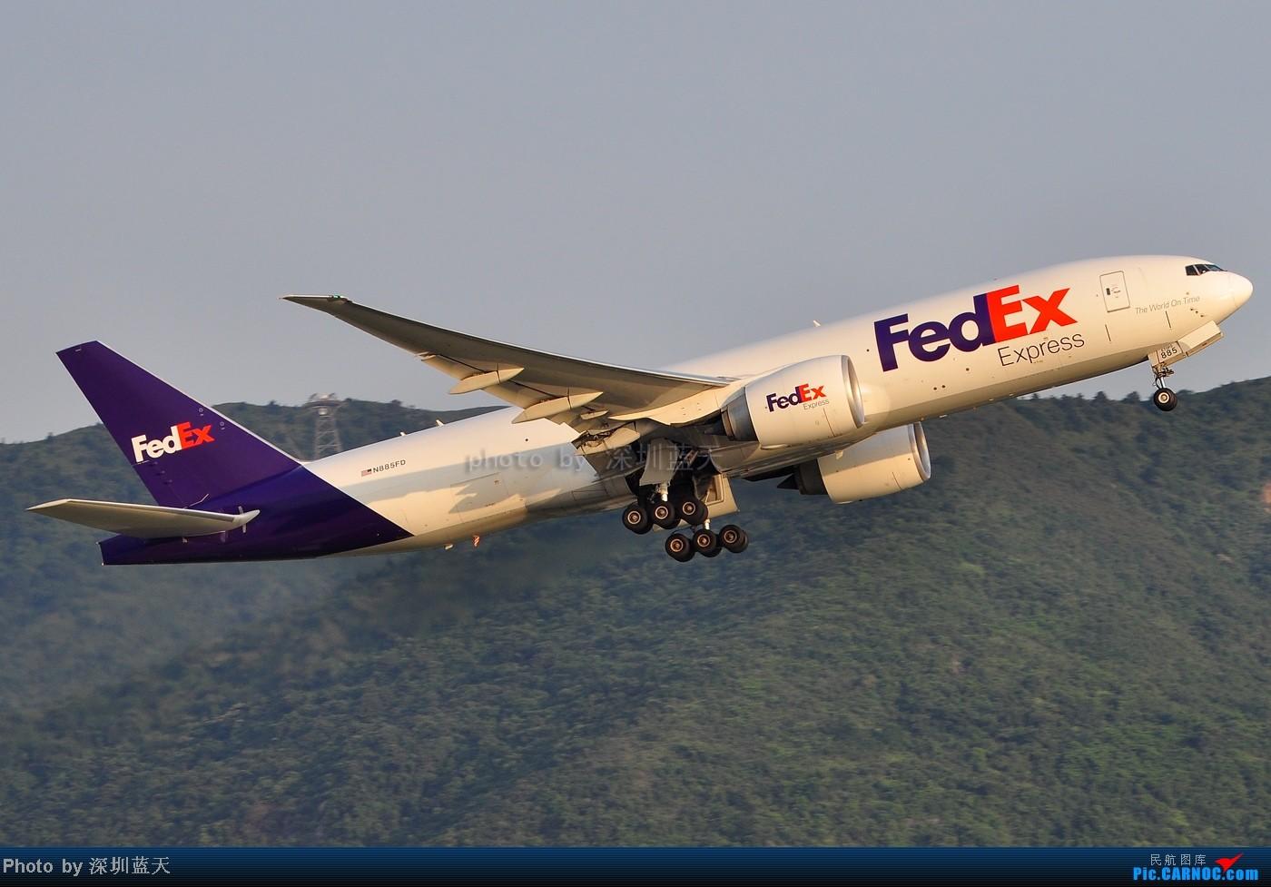 Re:[原创]【深圳飞友会】香港飞机维修区海堤起飞新拍—泰航A380斐济A330新装等 BOEING 777-200 N885FD 中国香港赤鱲角国际机场