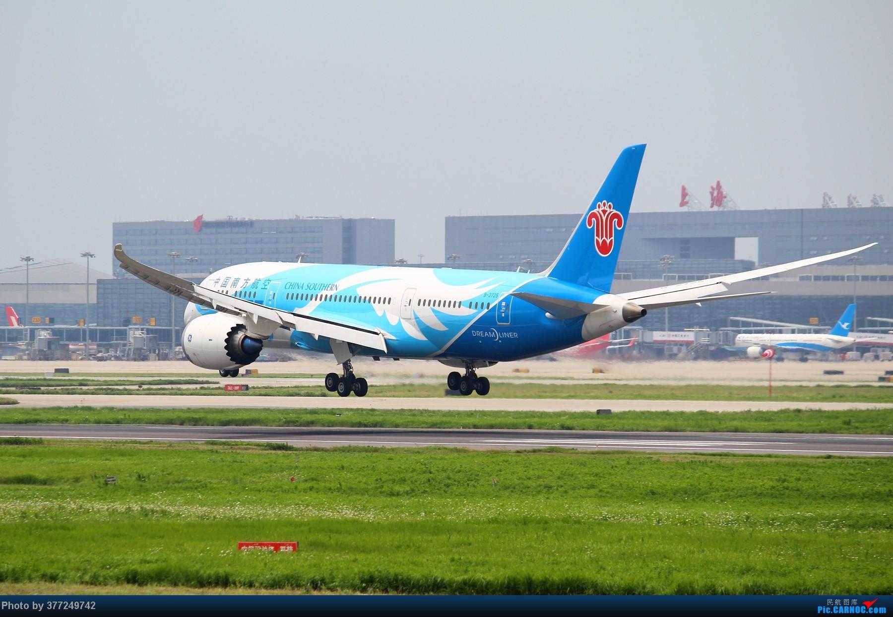 Re:【GA】【SHA】CZ787首航SHA组图。。。1800PIX BOEING 787 B-2725 中国上海虹桥机场
