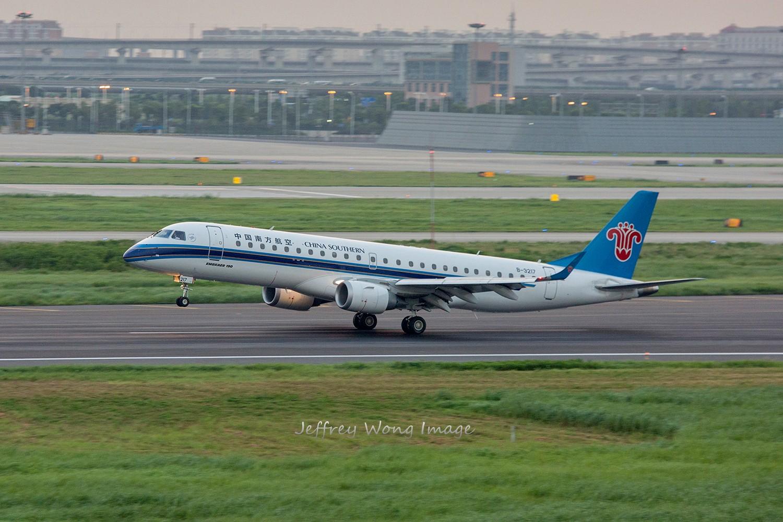 re:[5566拍机]虹桥夕阳印象~ embraer e-190 b-3217 中国上海虹桥机场