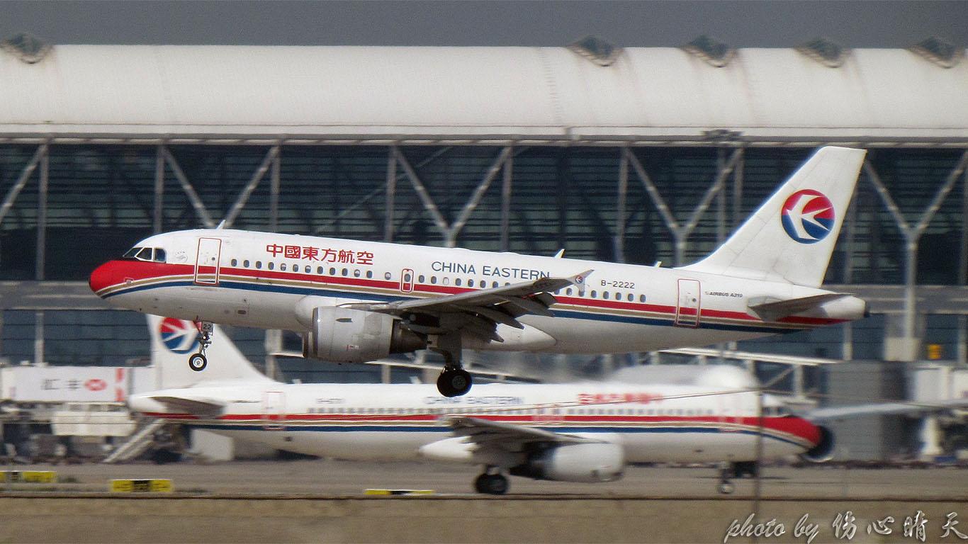 Re:[原创]PVG战40度高温,站在4跑外海堤上看2跑飞机的孩子伤不起,电线杆子很无奈却又可以带来不一样的东西。。。 AIRBUS A319-100 B-2222 中国上海浦东机场