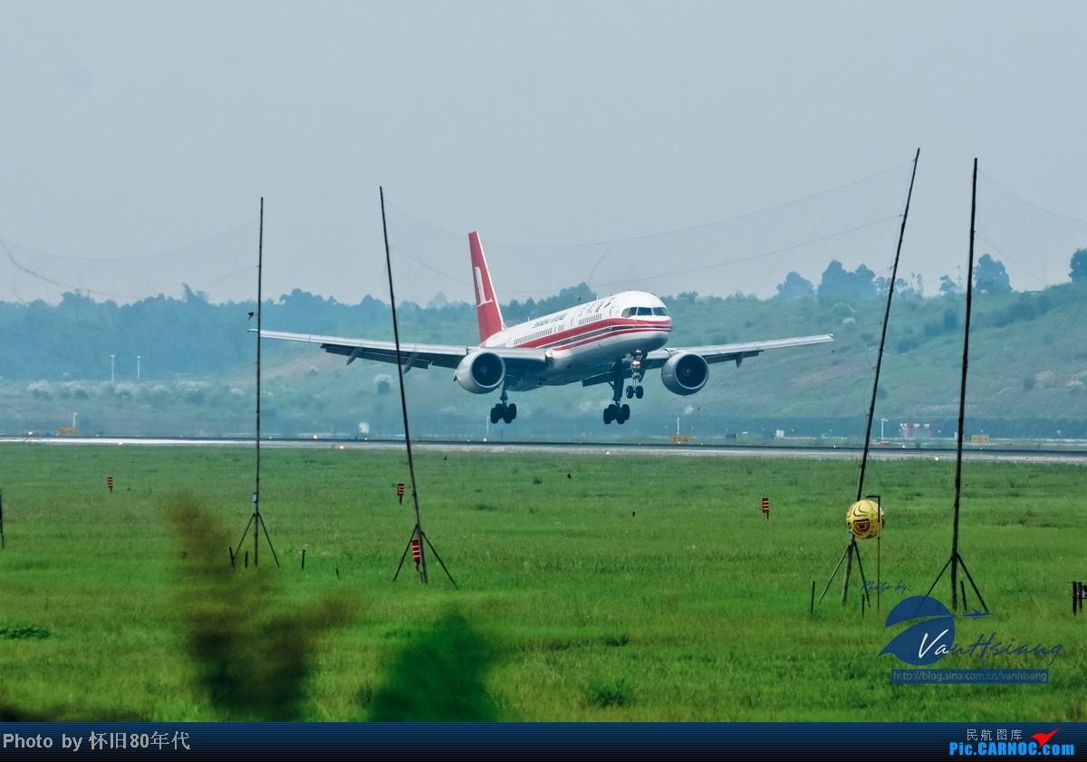 成都双流国际机场 ctu第二跑道拍飞机 757 2857 中国成都...