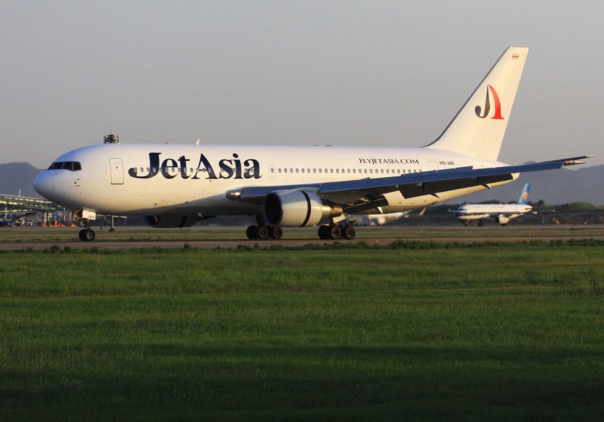 Re:[原创]似乎一年没拍飞机 BOEING 767-200 HS-JAK 中国南京禄口机场