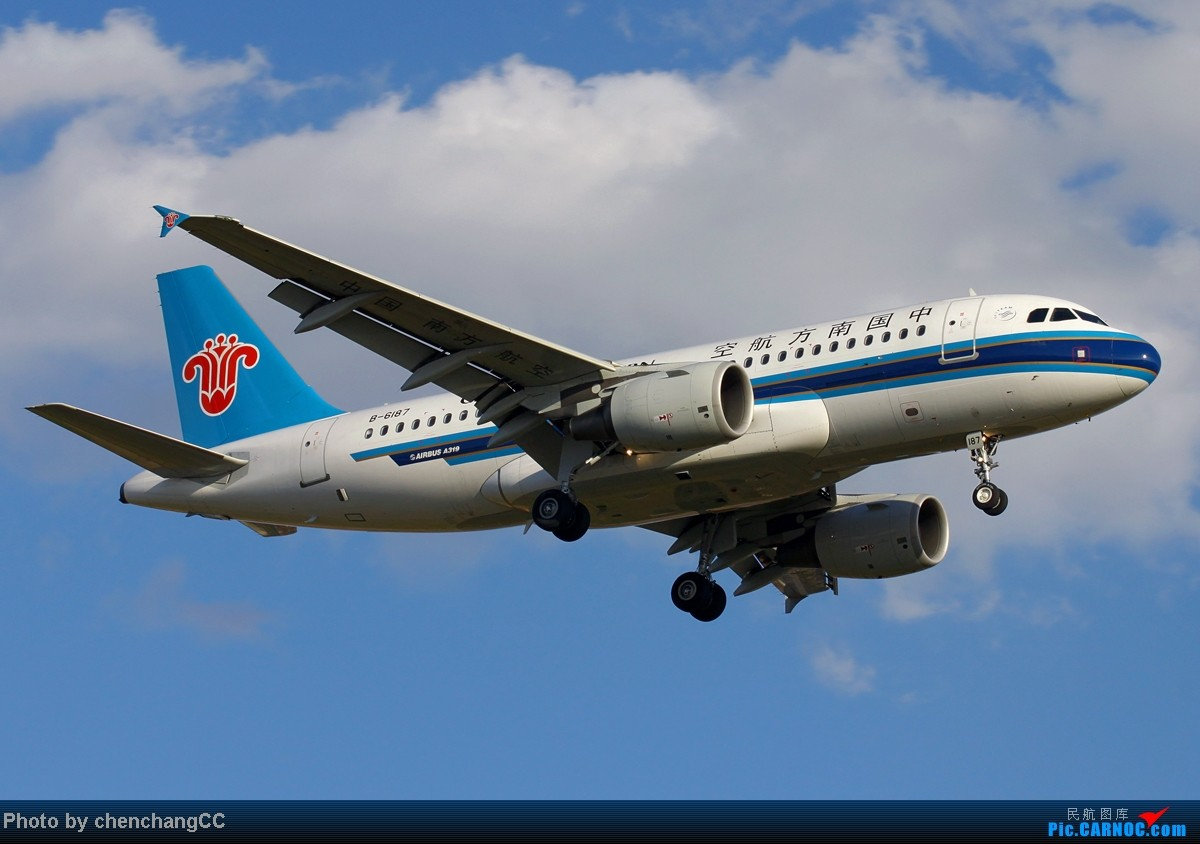 Re:[原创]【chenchangCC】冒个泡,发几张图! AIRBUS A319-100 B-6187 中国昆明巫家坝机场