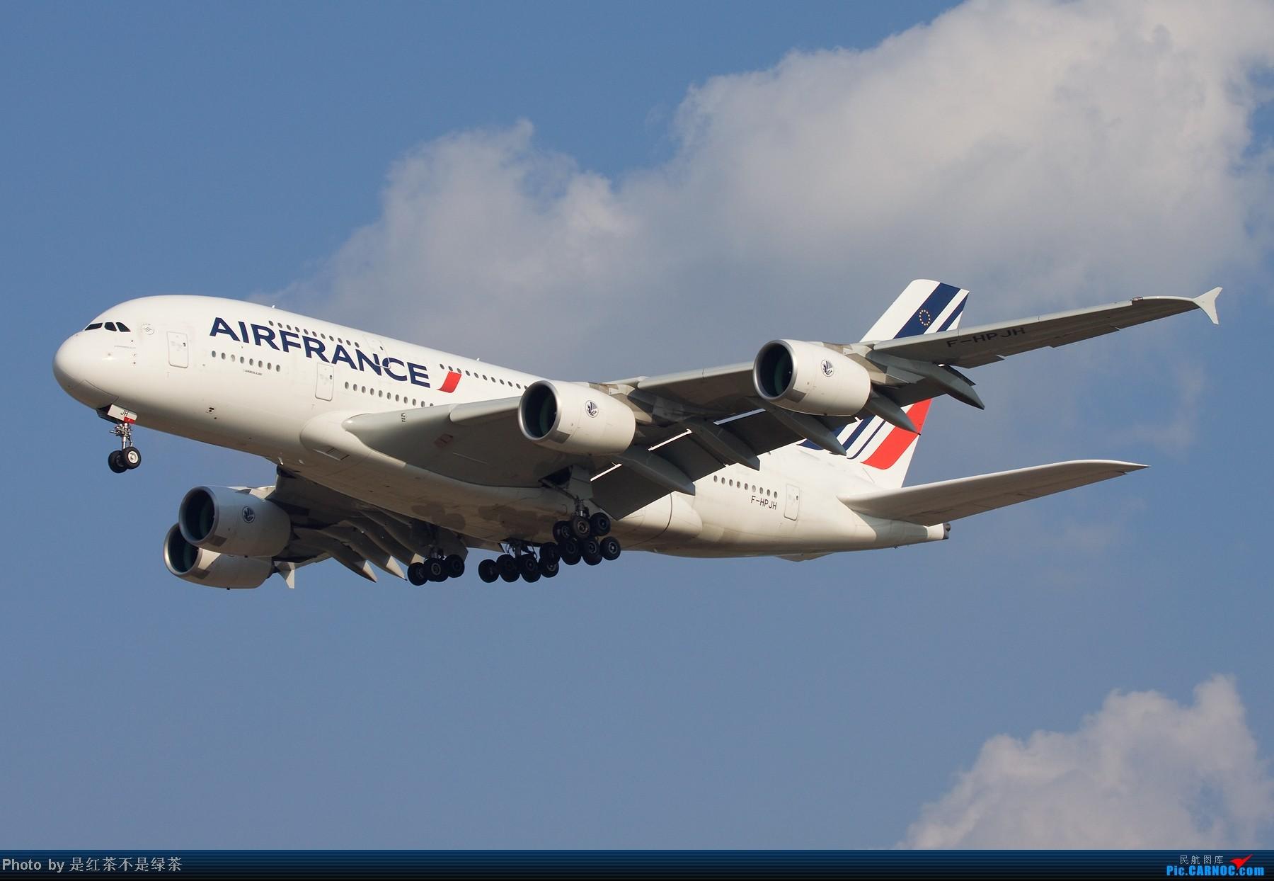 【红茶拍机】今天的主角!法航A380首航上海,多角度,第一张1800的图,最后附赠独家拍摄的擦烟图! AIRBUS A380-800 F-HPJH 中国上海浦东机场