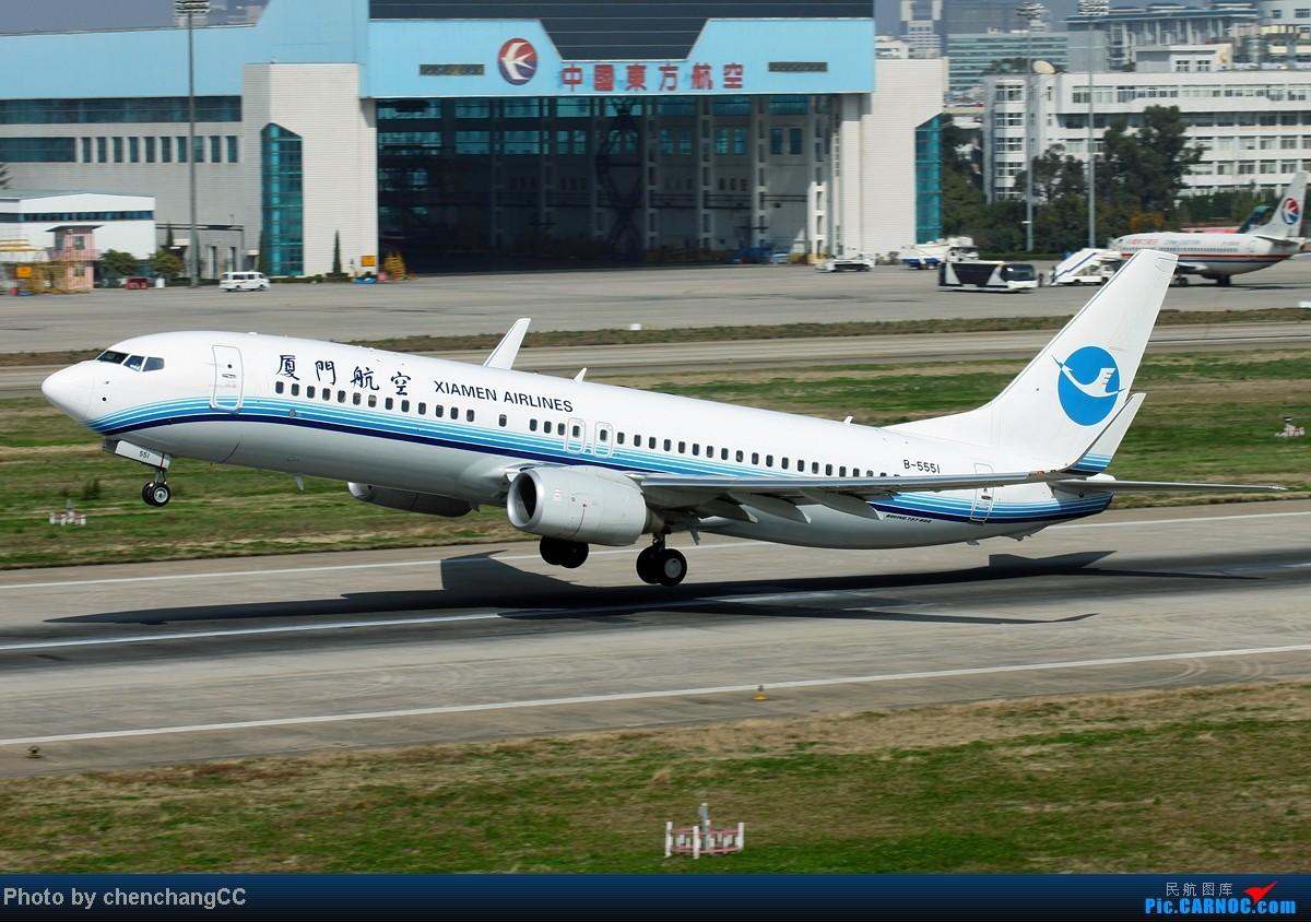 Re:[原创]【chenchangCC】图不能断了,继续巫家坝起飞 BOEING 737-800 B-5551 中国昆明巫家坝机场