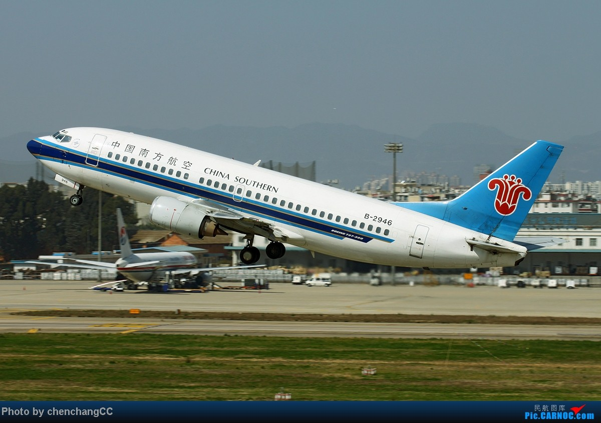 Re:[原创]【chenchangCC】国庆在家当然要发图了,祝全国飞友国庆快乐! BOEING 737-300 B-2946 中国昆明巫家坝机场