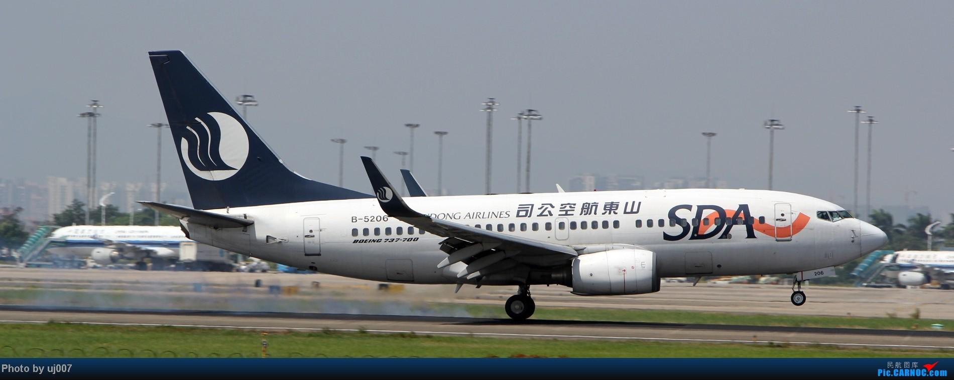 Re:[原创]10月2日白云拍机(大飞机,特别妆,外航,闪灯,擦烟)求指点. BOEING 737-700 B-5206 中国广州白云机场