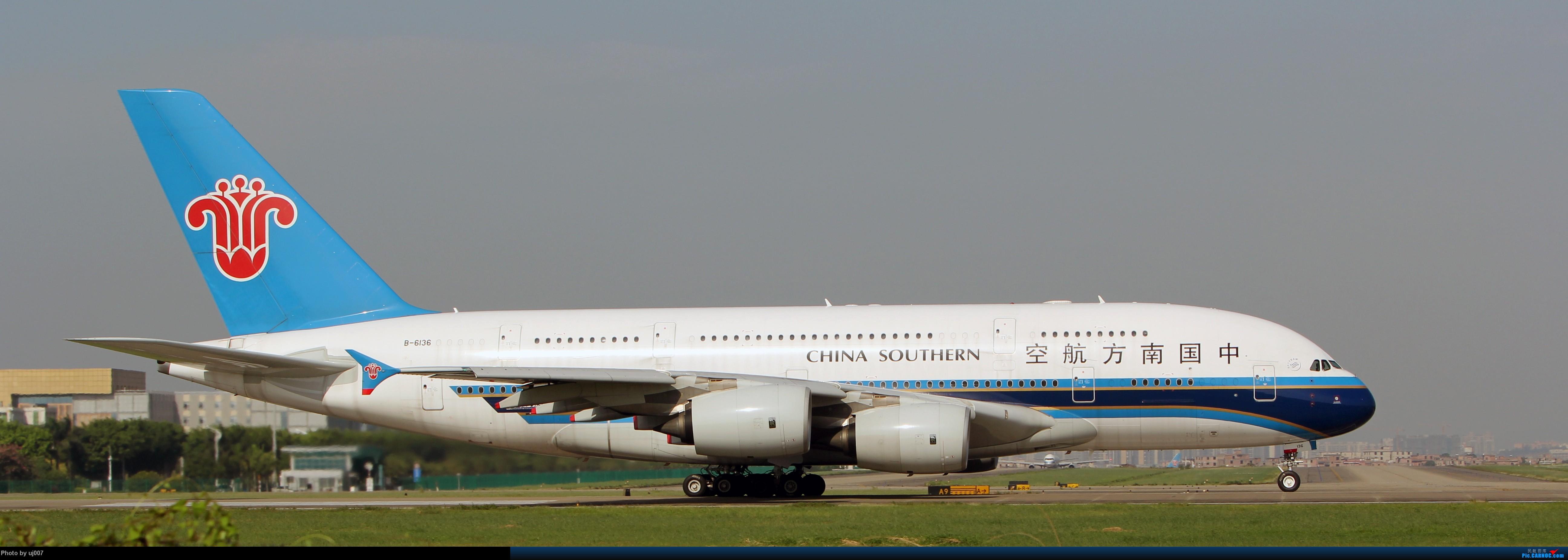 Re:[原创]10月2日白云拍机(大飞机,特别妆,外航,闪灯,擦烟)求指点. AIRBUS A380 B-6136 广州白云国际机场