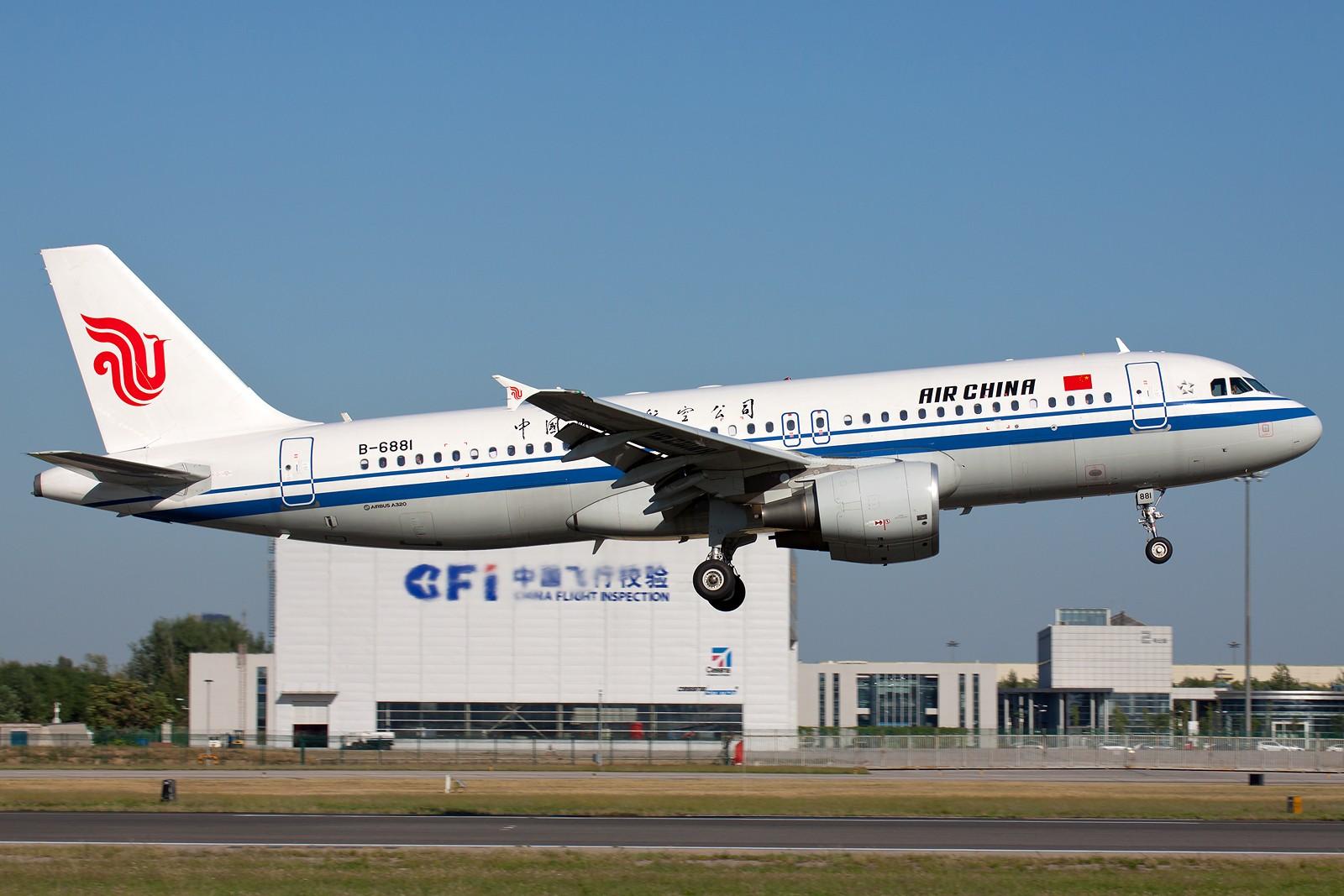 Re:[原创]国航一组 B737&A320系列 [10pics] AIRBUS A320-200 B-6881 中国北京首都机场
