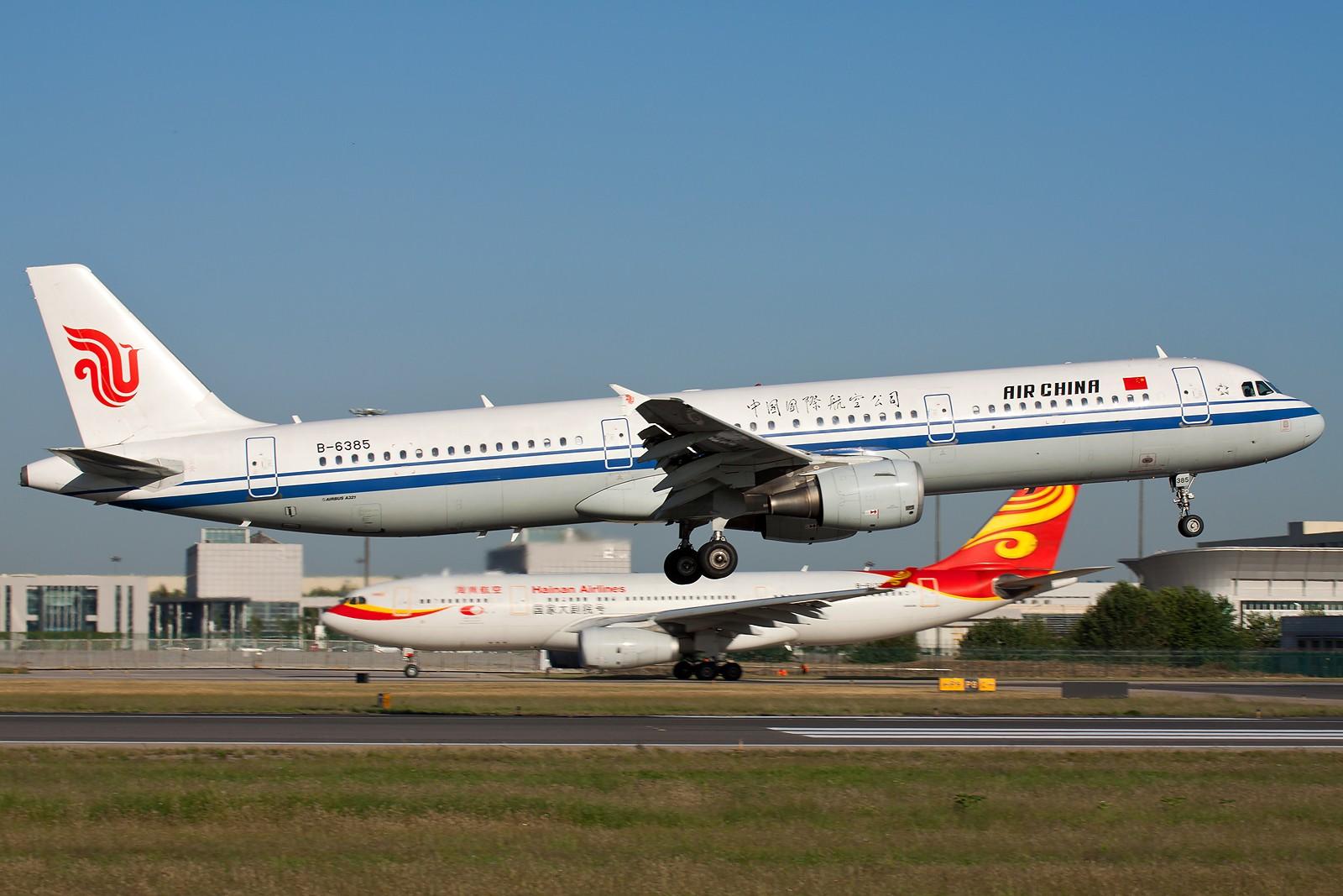 Re:[原创]国航一组 B737&A320系列 [10pics] AIRBUS A321-200 B-6385 中国北京首都机场