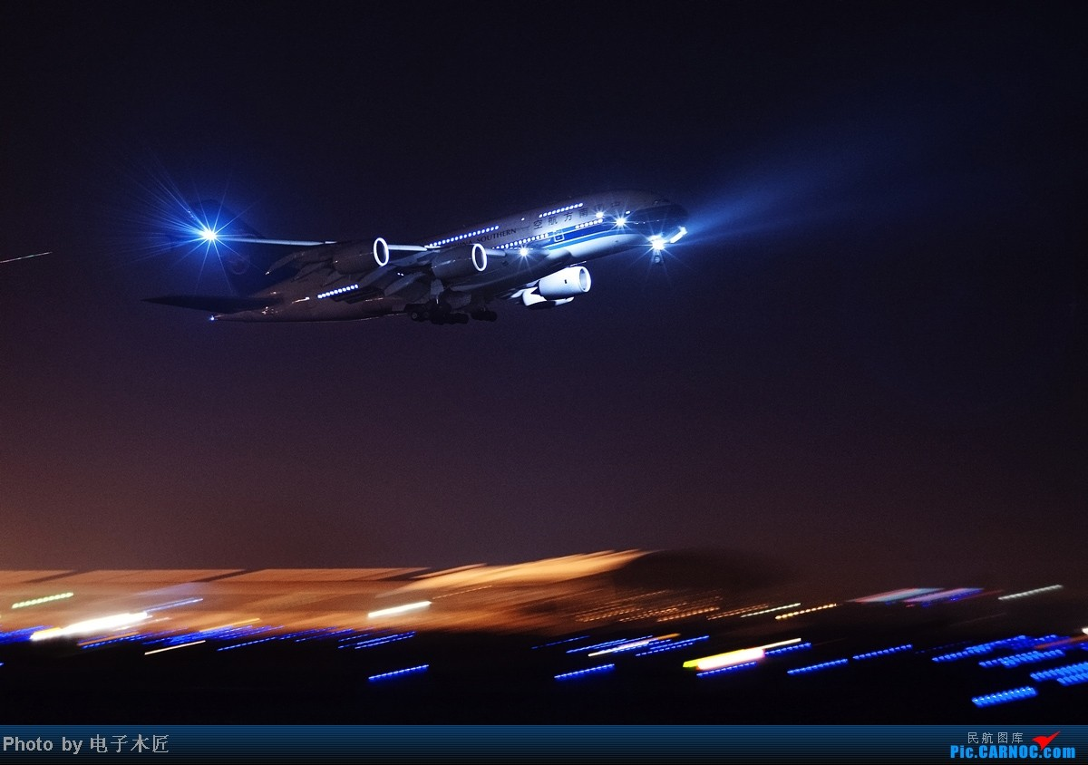 [原创]估计这几个月天津能拍机的机会将非常稀少。。。 AIRBUS A380 B-6136 中国天津滨海机场