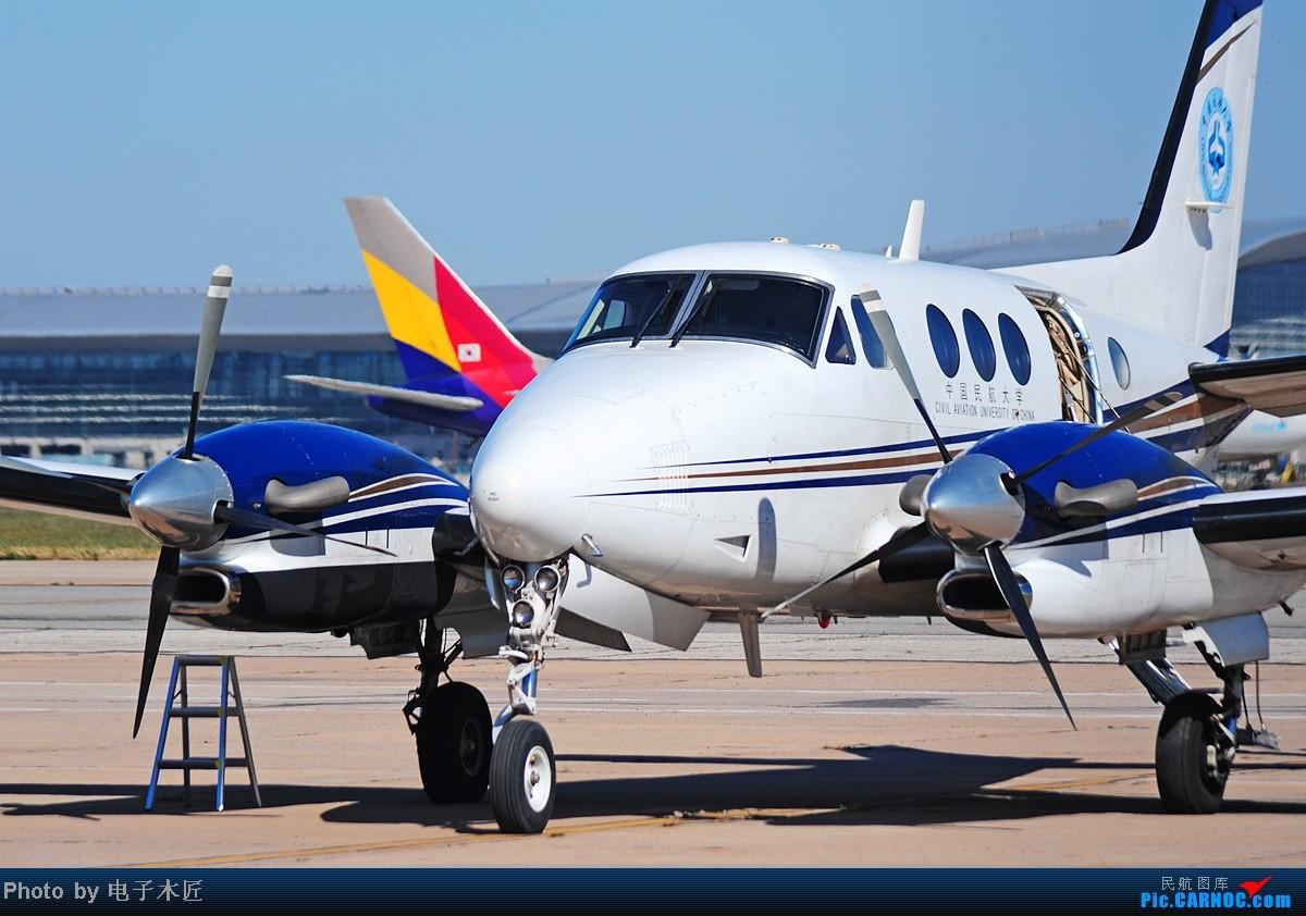 Re:[原创]估计这几个月天津能拍机的机会将非常稀少。。。 BEECH 90 KING AIR B-7756 中国天津滨海机场