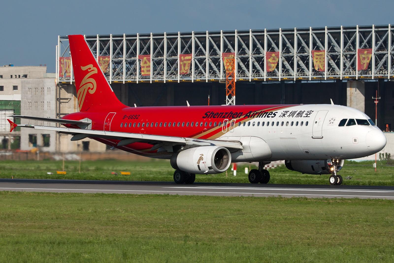 Re:[原创]沈阳桃仙国际机场 24号跑道 深圳航空一组 AIRBUS A320-200 B-6692 中国沈阳桃仙机场