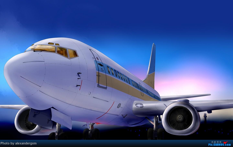 [原创]发一些自己业余画的一些飞机啦~大部分侧视图~ 737-500