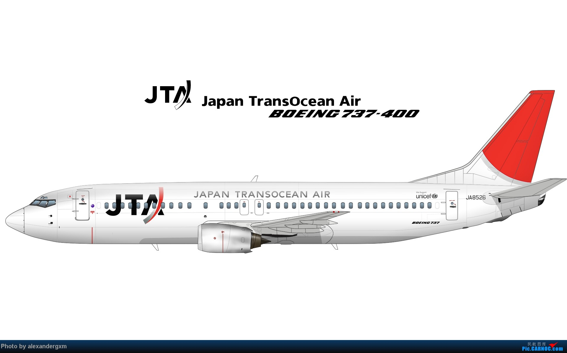Re:[原创]发一些自己业余画的一些飞机啦~大部分侧视图~ 737-400