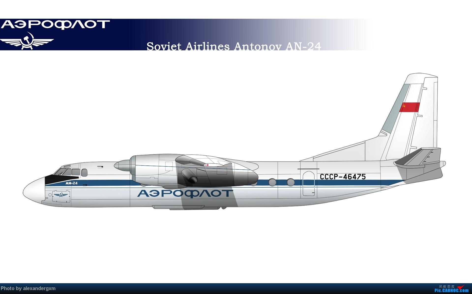 Re:[原创]发一些自己业余画的一些飞机啦~大部分侧视图~ AN-24