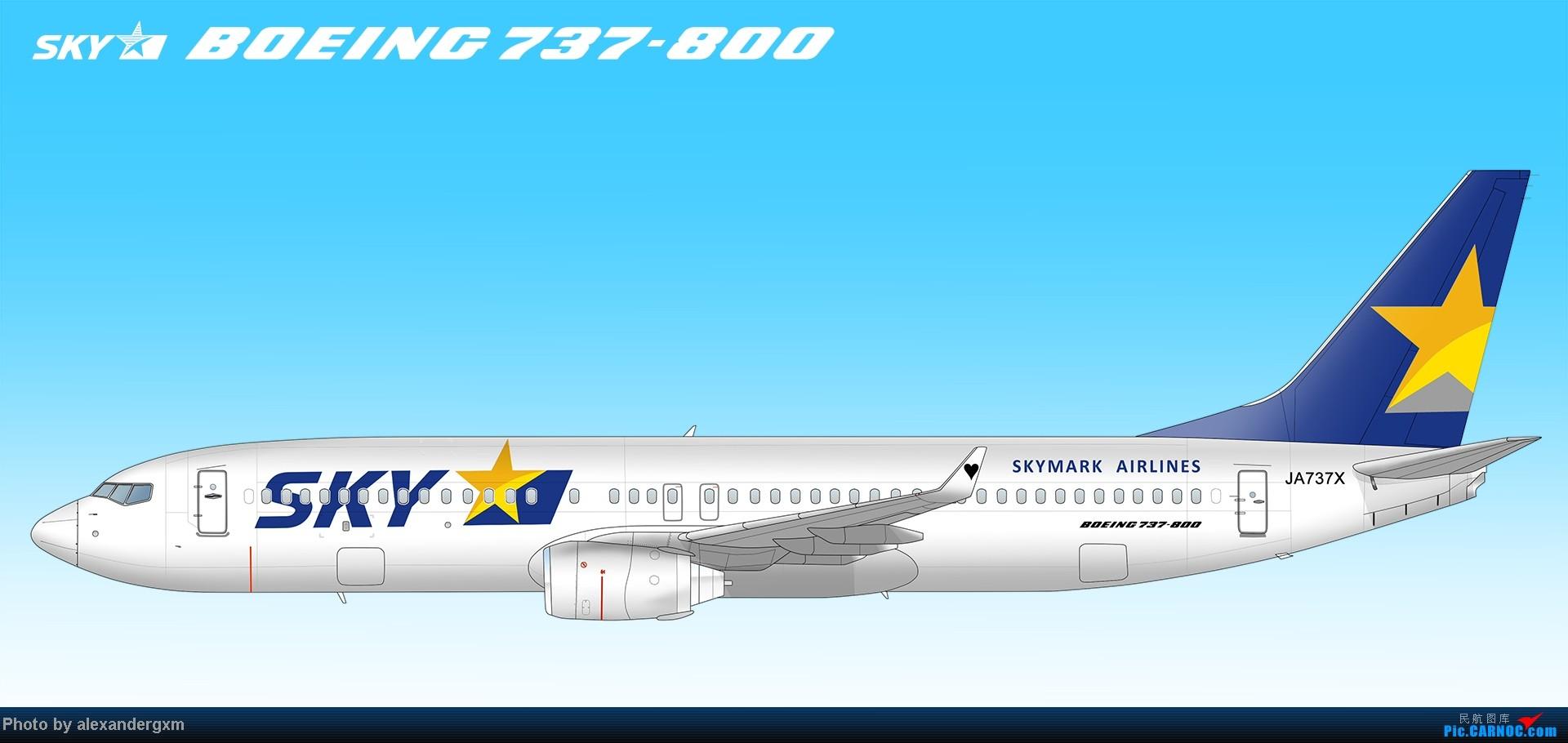 Re:[原创]发一些自己业余画的一些飞机啦~大部分侧视图~ BOEING 737-800