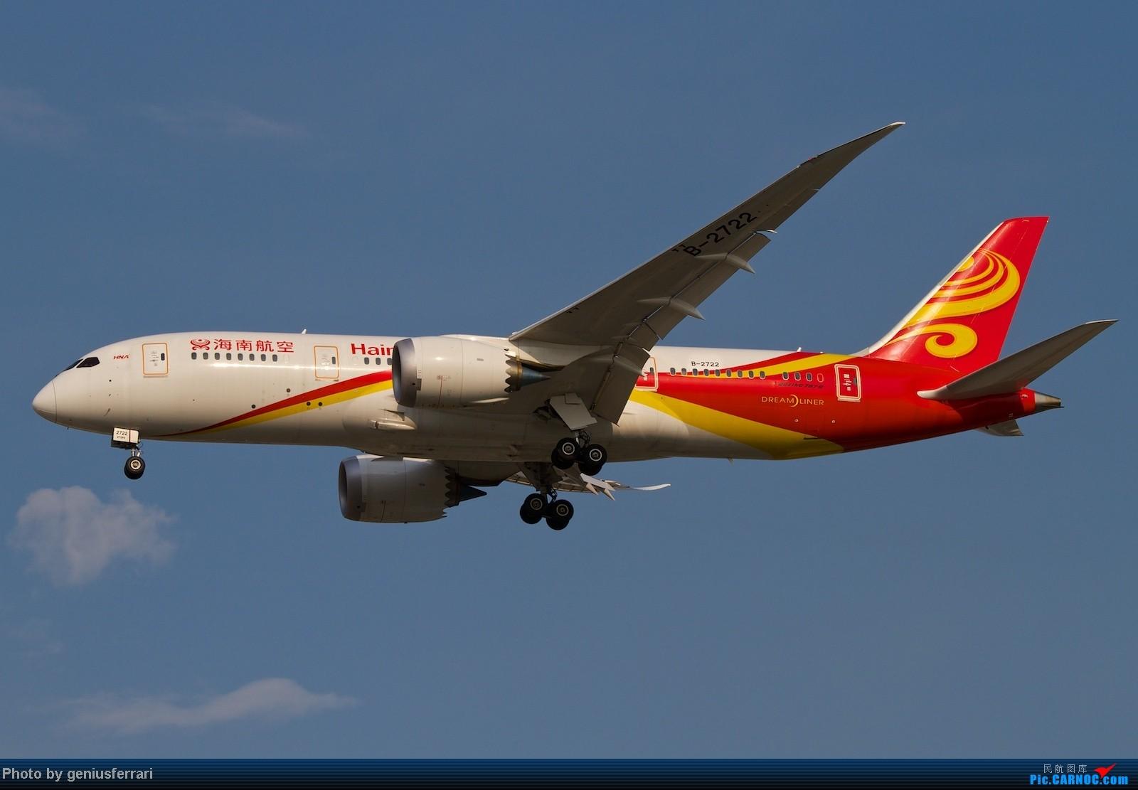 Re:[原创]【CARNOC重庆飞友会】升级787,来一组拍到的787 BOEING 787 B-2722 中国北京首都机场
