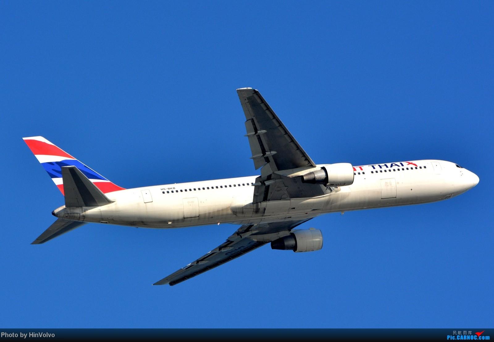 Re:[原创]~~~~多圖系列~~~HKG,早上好!寒冷的天氣出發前往機場拍到中午。 BOEING 767-300 HS-BKB 中国香港赤鱲角机场