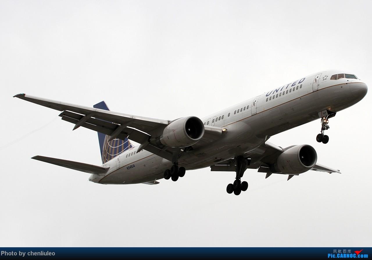 Re:[原创]【杭州飞友会】LAX拍机。阴天。傍晚。逆光。亮点不多。 BOEING 757-222 N541UA 美国洛杉矶机场
